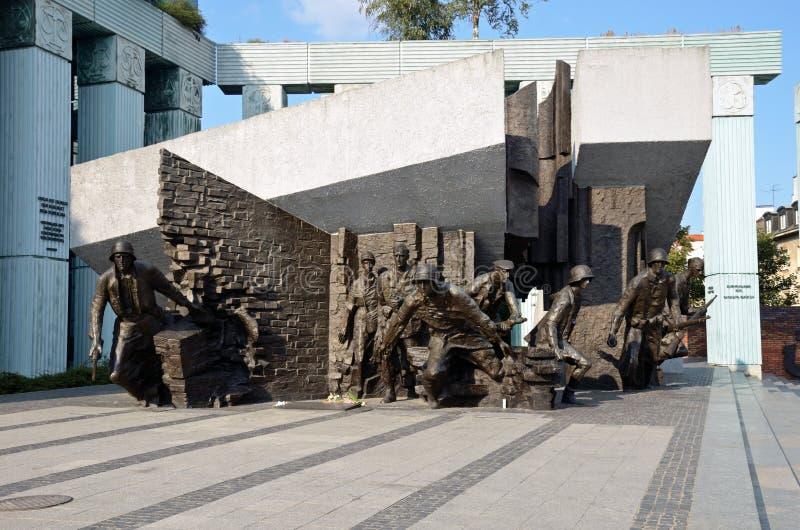 Monument aux combattants de soulèvement de Varsovie images libres de droits