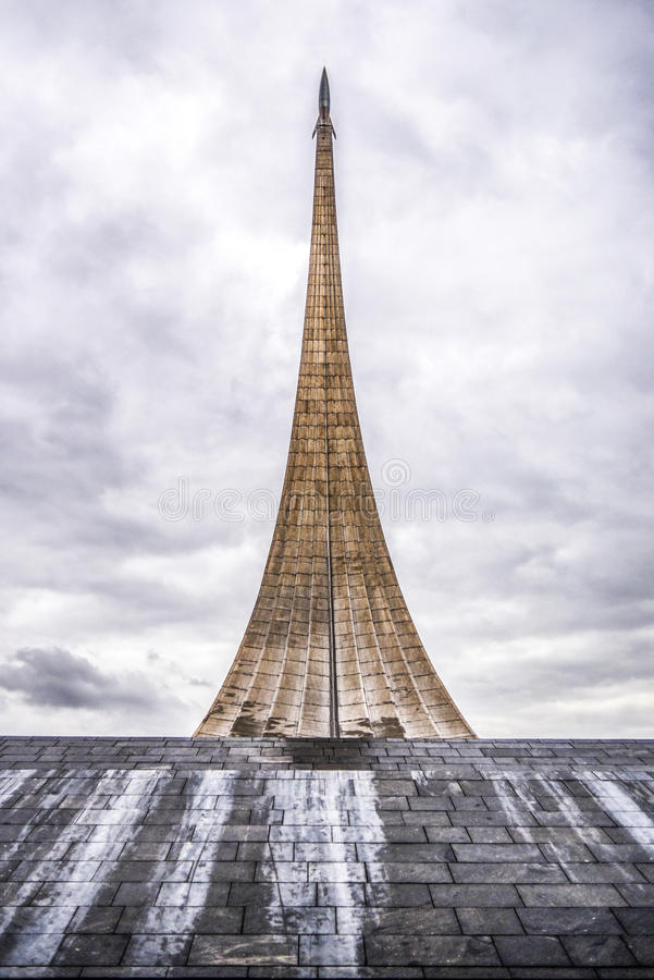 Monument aux conquérants de l'espace à Moscou, Russie image stock