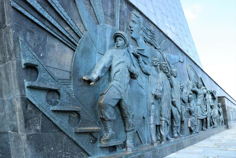 Monument aux conquérants de l'espace, Moscou photo stock