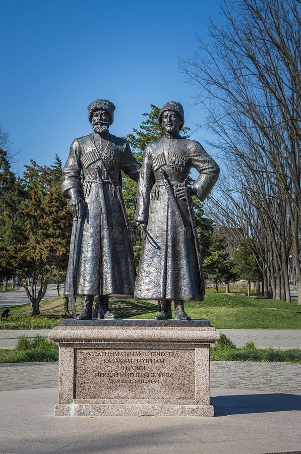 Monument aux Cosaques et aux montagnards - héros de premier W photo libre de droits