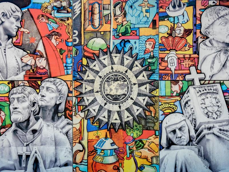 Monument aux découvertes à Lisbonne, Portugal images stock