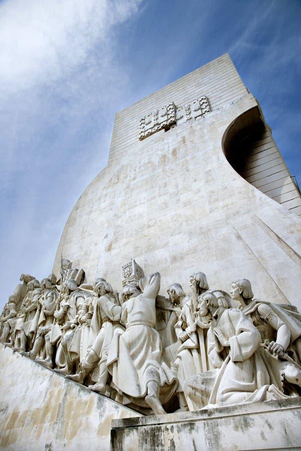 Monument aux découvertes au Portugal. photographie stock