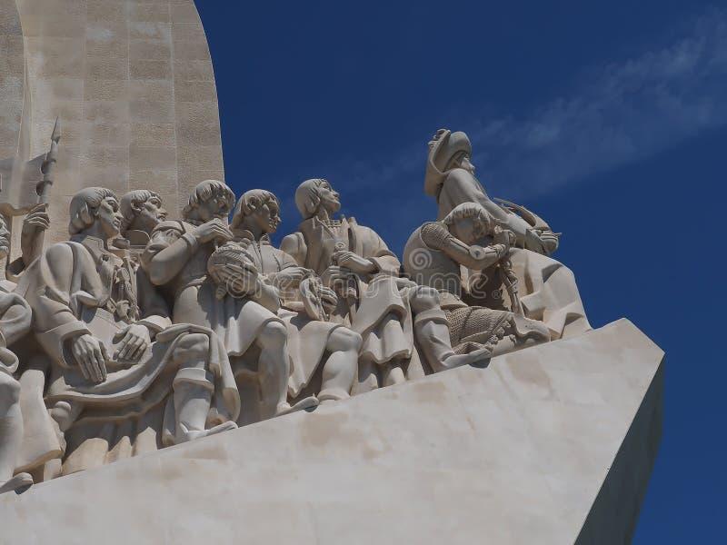 Monument aux d?couvertes dans Libon au Portugal photo libre de droits