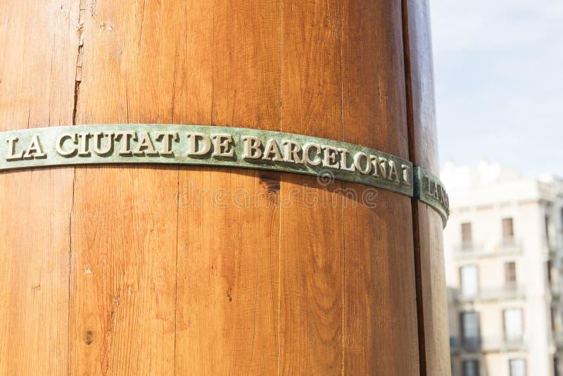 Monument aux gens qui ont combattu Barcelone de défense pendant le sie photographie stock libre de droits