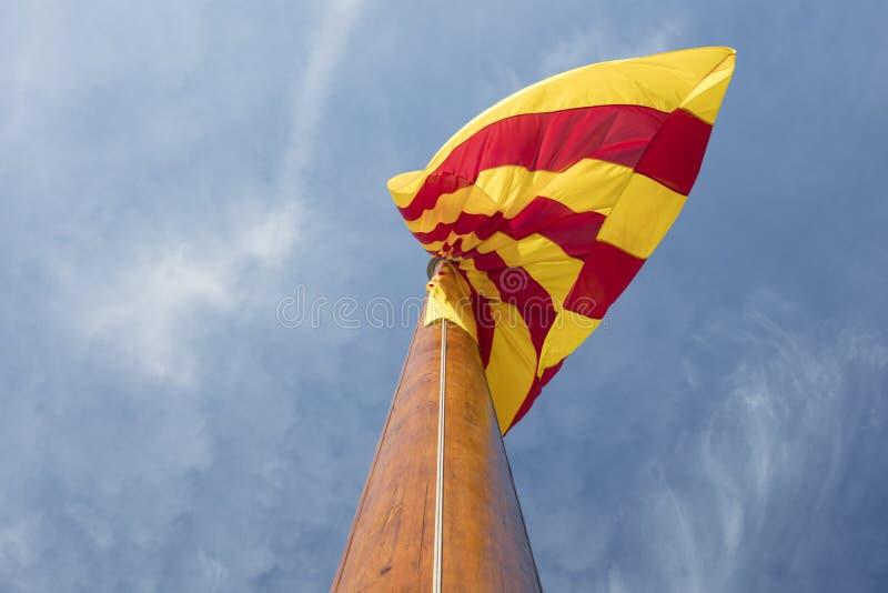 Monument aux gens qui ont combattu Barcelone de défense pendant le sie photo stock