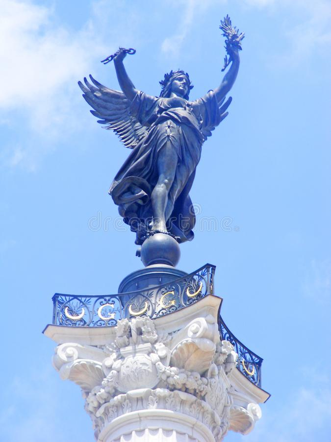 Monument aux girondins, Bordeaux, Gironde, Aquitaine, France. Monument aux girondins, Bordeaux, France royalty free stock image