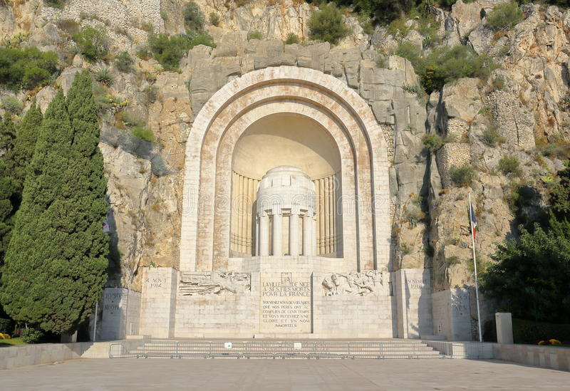 Monument Aux Morts in Nice. France royalty free stock images