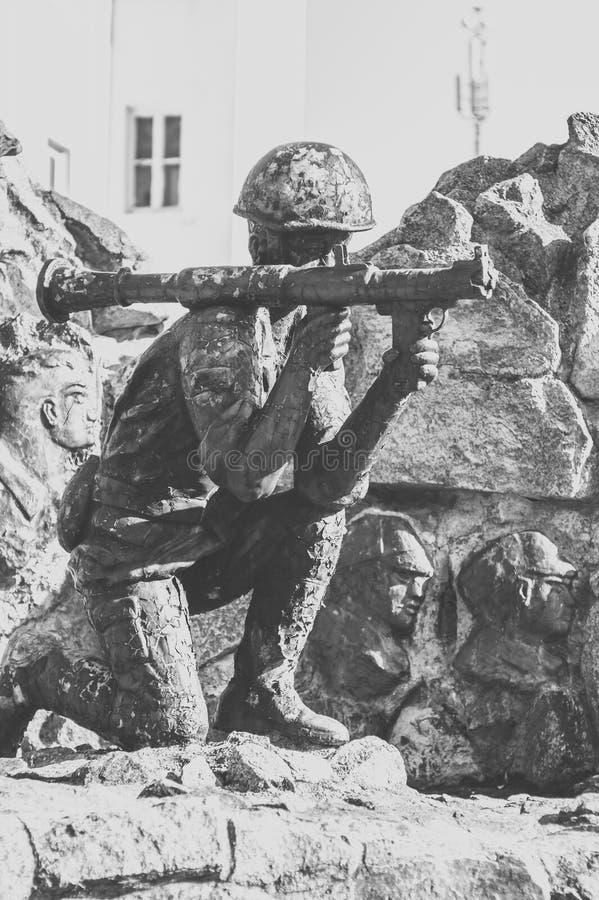 Monument aux soldat-Afghans photo stock