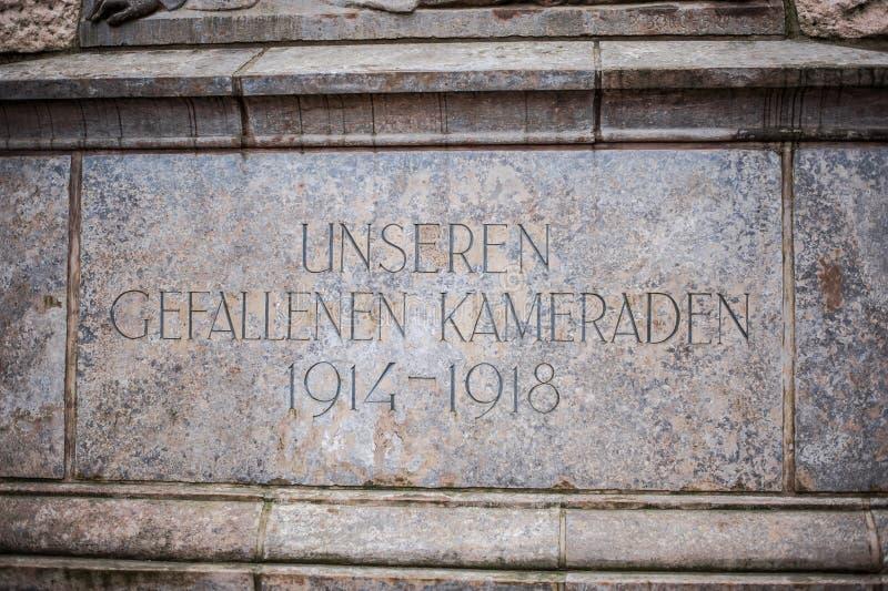 Monument aux soldat-soldats du génie dans la première guerre mondiale photographie stock