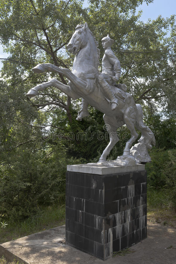 Monument aux soldats d'armée rouge dans le village Kudepsta, Sotchi, région de Krasnodar, Russie de station de vacances images libres de droits