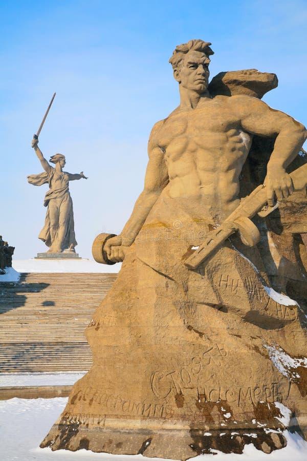 Monument aux soldats russes à Volgograd image libre de droits