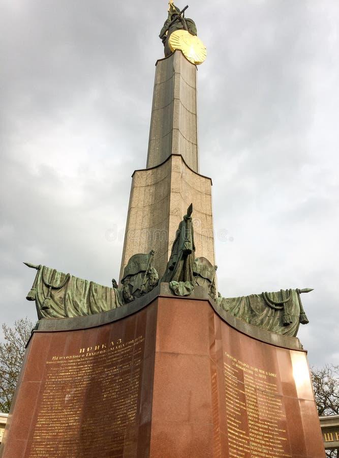 Monument aux soldats soviétiques images libres de droits