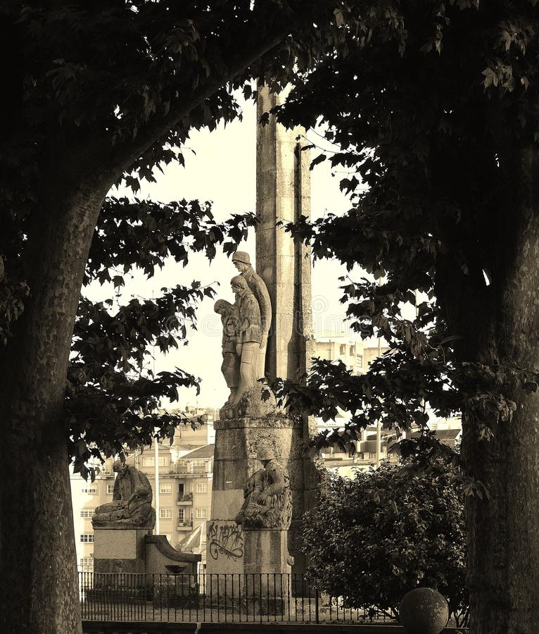 Monument aux soldats tombés photographie stock