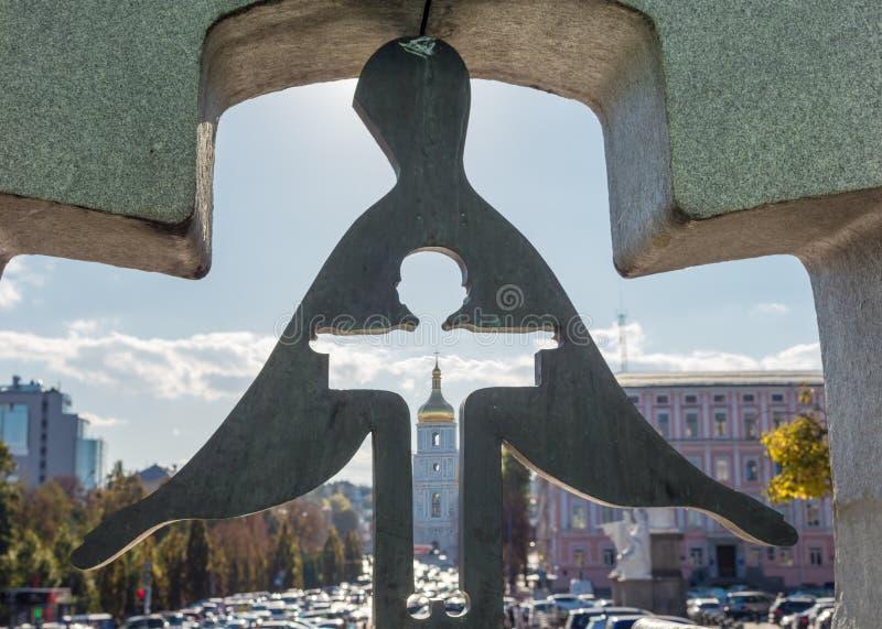 Monument aux victimes de Holodomor sur la place de Mikhailovskaya à Kiev, photographie stock