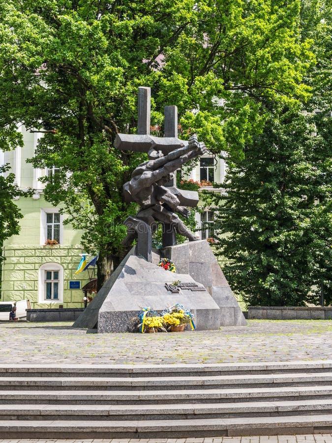 Monument aux victimes des crimes communistes image libre de droits