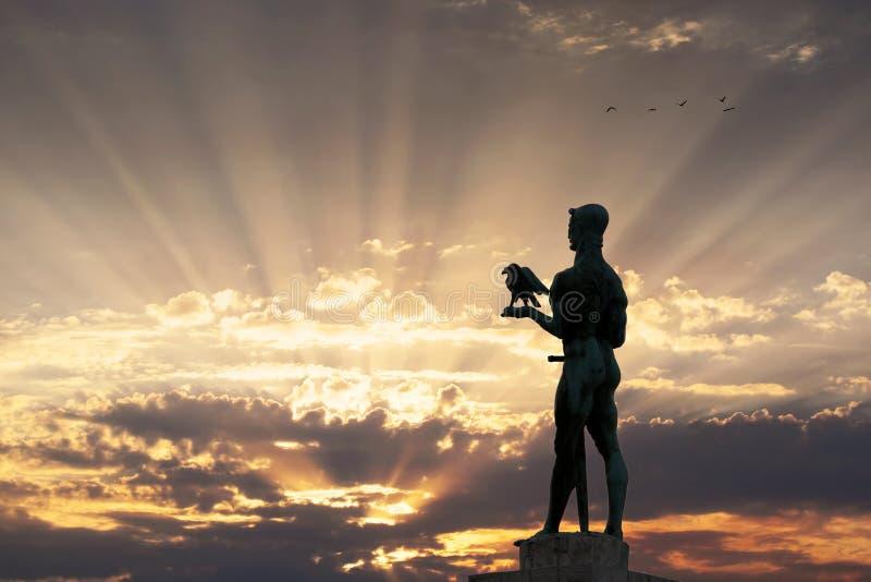 Monument av den Belgrade vinnaren royaltyfri fotografi