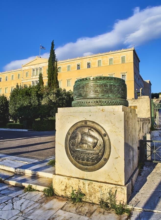 Monument av den okända soldaten i Syntagmafyrkanten, Aten arkivfoton