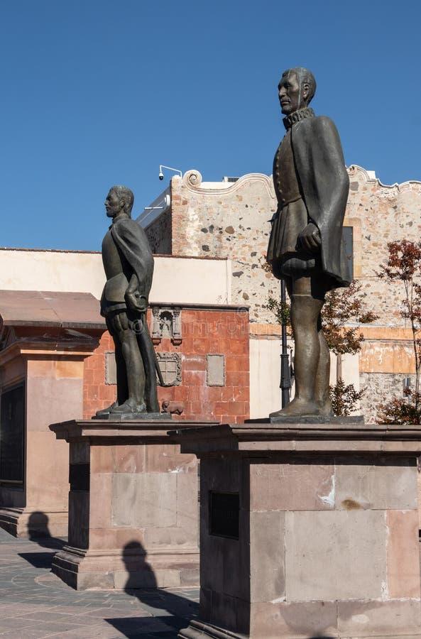 Monument av hjältar av mexicansk självständighet royaltyfri fotografi