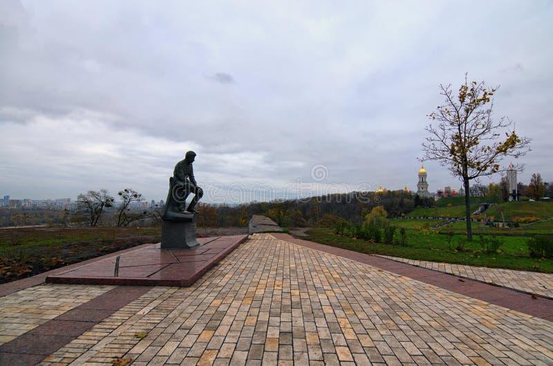 Monument av Leonid Bykov Sovjetisk ukrainsk skådespelare, skriftförfattare och filmdirektör Hans är den mest berömda rollen en WW arkivfoton