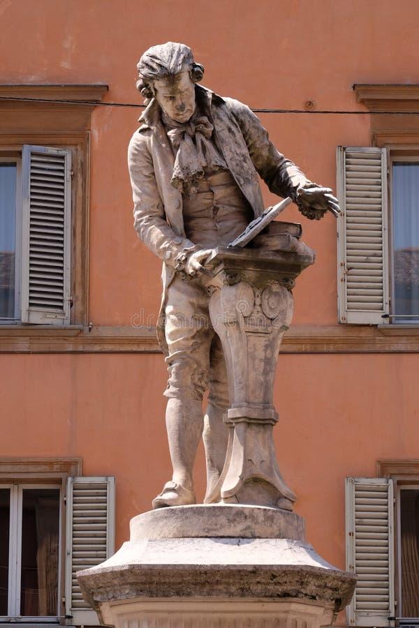 Monument av Luigi Galvani arkivfoton