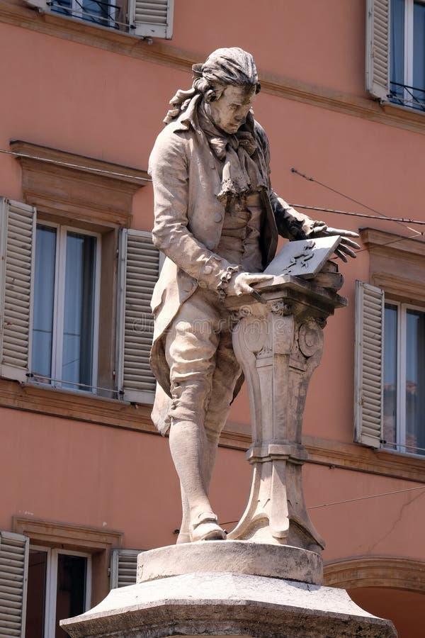 Monument av Luigi Galvani arkivfoto