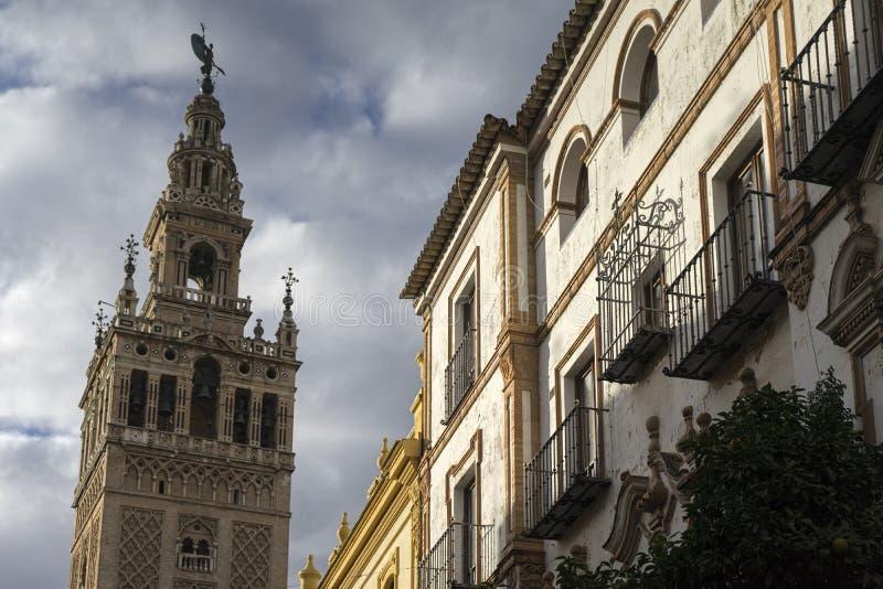 Monument av Seville, Andalusia arkivbild