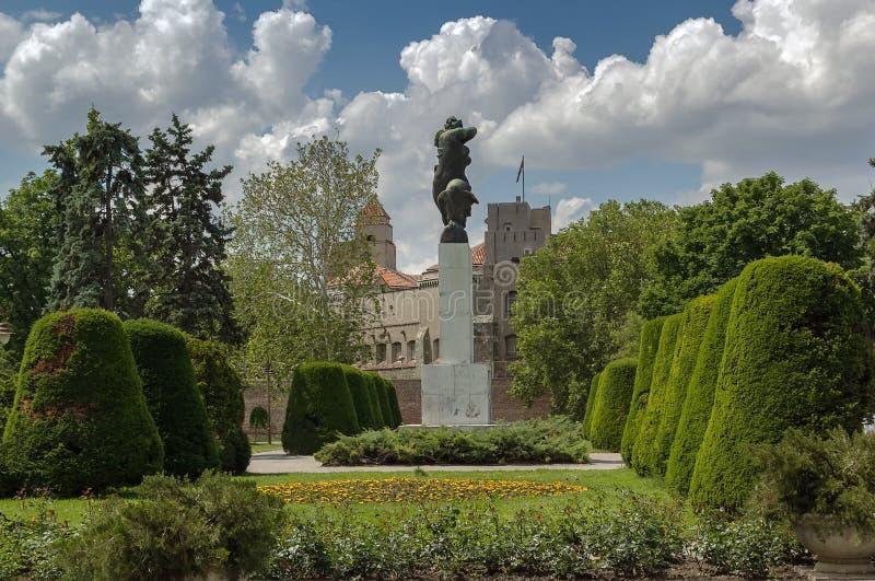 Monument av tacksamhet till Frankrike, Belgrade arkivbild