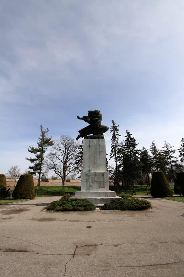 Monument av tacksamhet till Frankrike i Belgrade, Serbien royaltyfria foton
