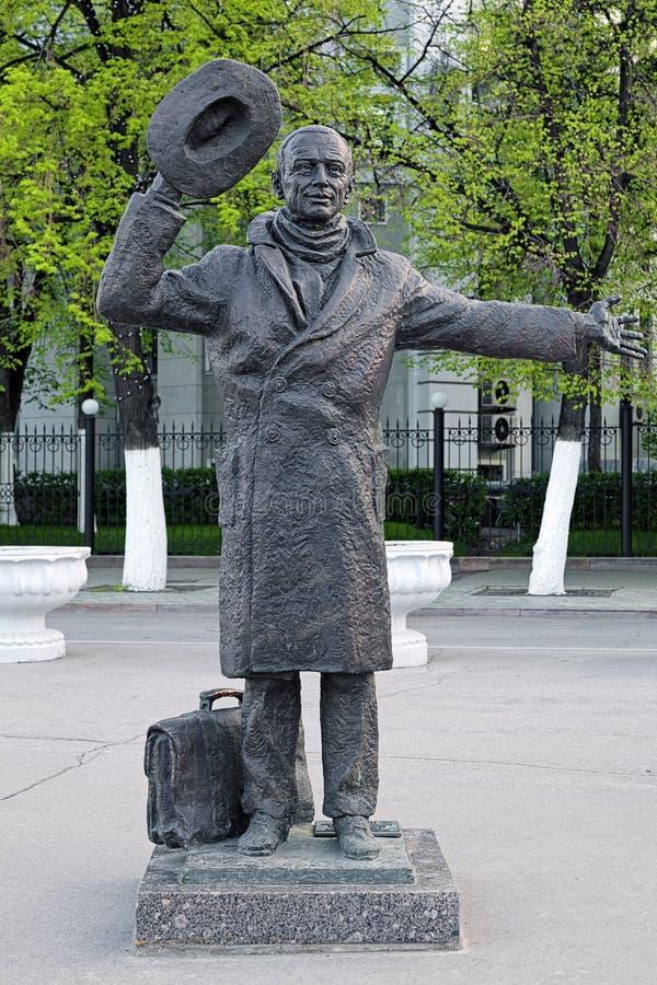 Monument av Yuriy Detochkin i samaraen, Ryssland arkivfoton