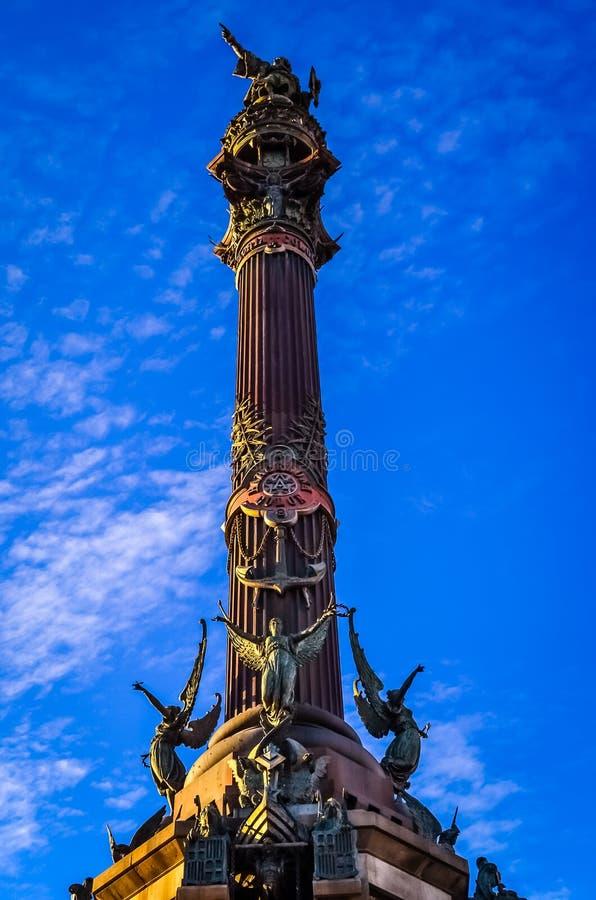 Monument in Barcelona stock afbeeldingen