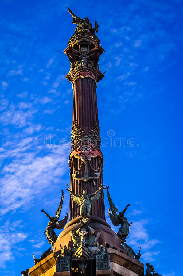 Monument in Barcelona stock images