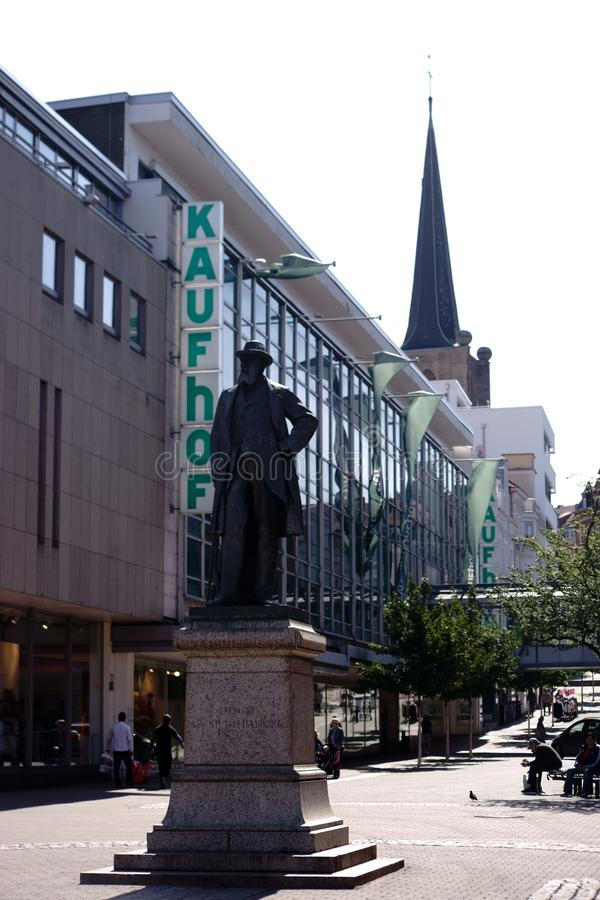 Monument Baron von Stumm Neunkirchen stock afbeelding