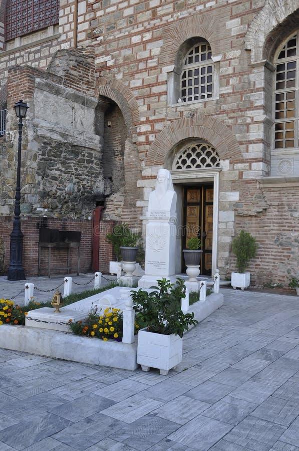 Basilica of Saint Demetrius or Hagios Demetrios courtyard from Thessaloniki the Capital of Macedonia of Greece royalty free stock image