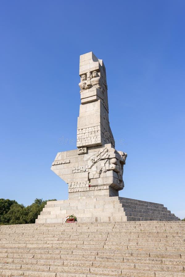 Monument bei Westerplatte in Gdansk stockbild