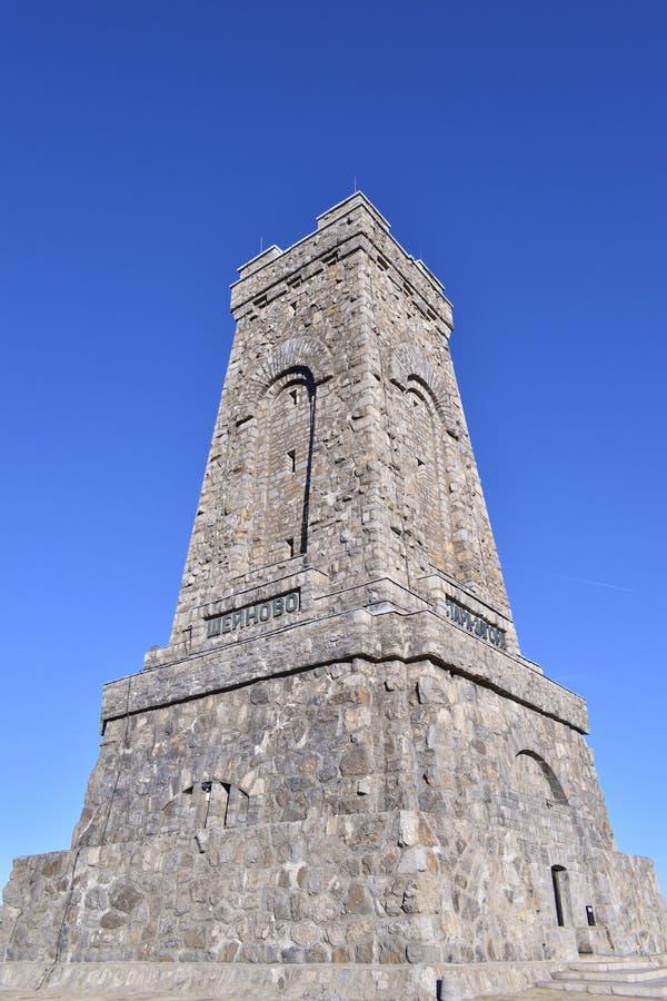 Monument bij Shipka-Pas stock fotografie