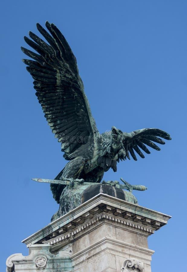 Famous Turul bird of Hungarian mythology stock photos