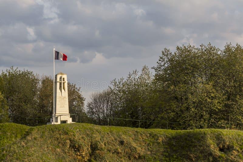 Monument Butte de Vauquois France stock photos