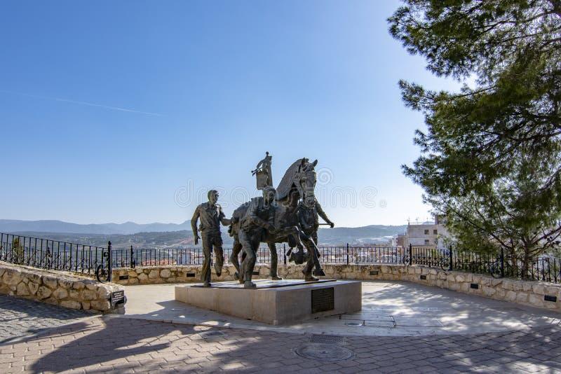 Monument Caballos del Vino op Caravaca DE La Cruz, Murcia stock afbeeldingen