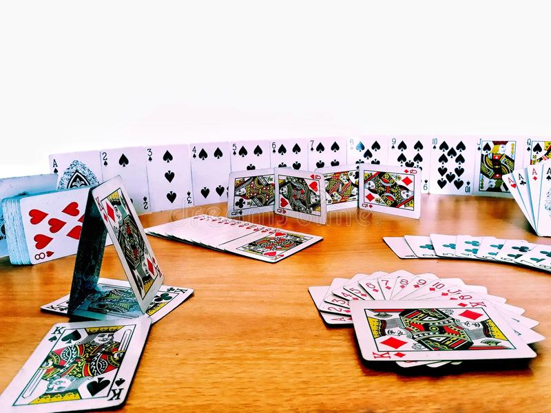 The Monument of Cards royalty free stock photos