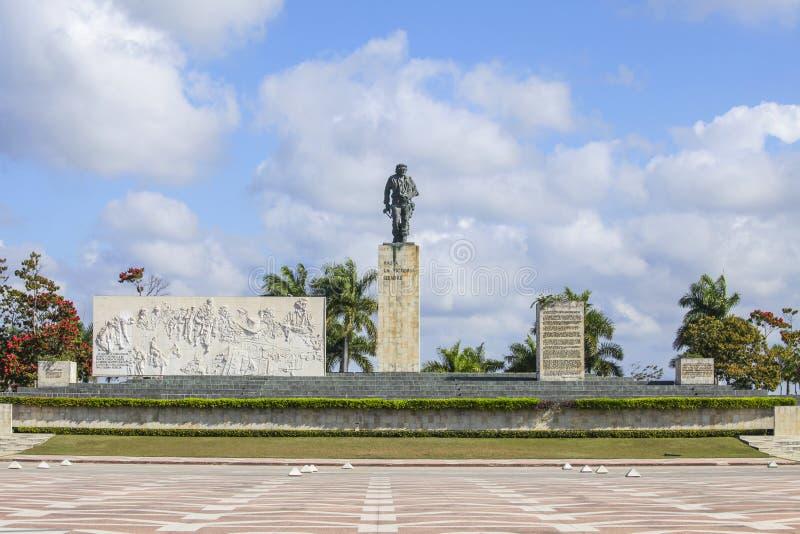 Monument for Che Guevara in Cuba. Che Guevara Monument, Plaza de la Revolution in Santa Clara, Cuba royalty free stock photos