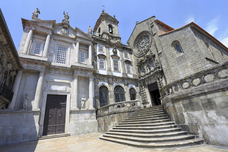 Monument Church Of St Francis Sao Francisco facade in Porto royalty free stock image