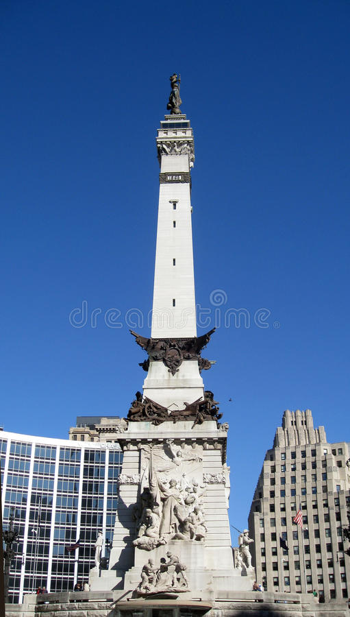 Free Monument Circle In Indianapolis Indiana Stock Photo - 13327910