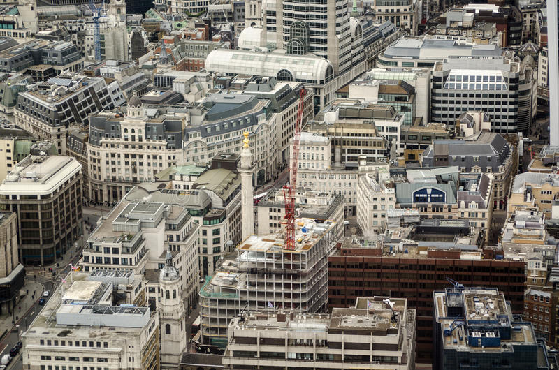 Monument, City of London aerial view
