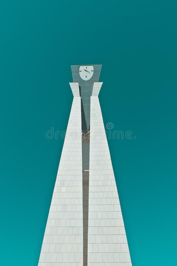 Monument with a clock stock photography