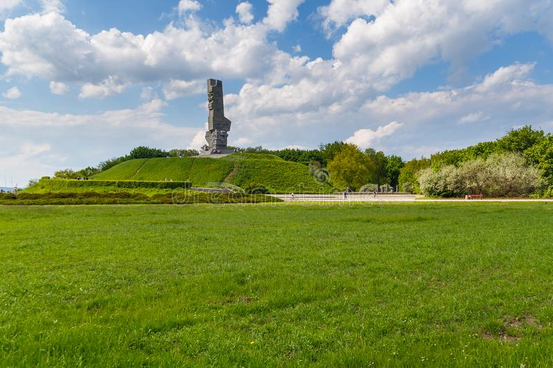 Monument of the Coast Defenders- a monument in Gdansk. royalty free stock photography
