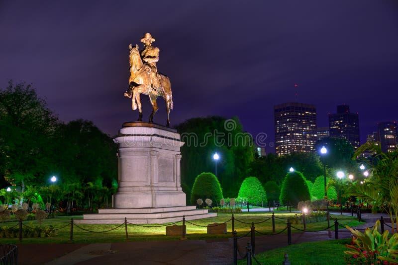 Monument commun de Boston George Washington image libre de droits