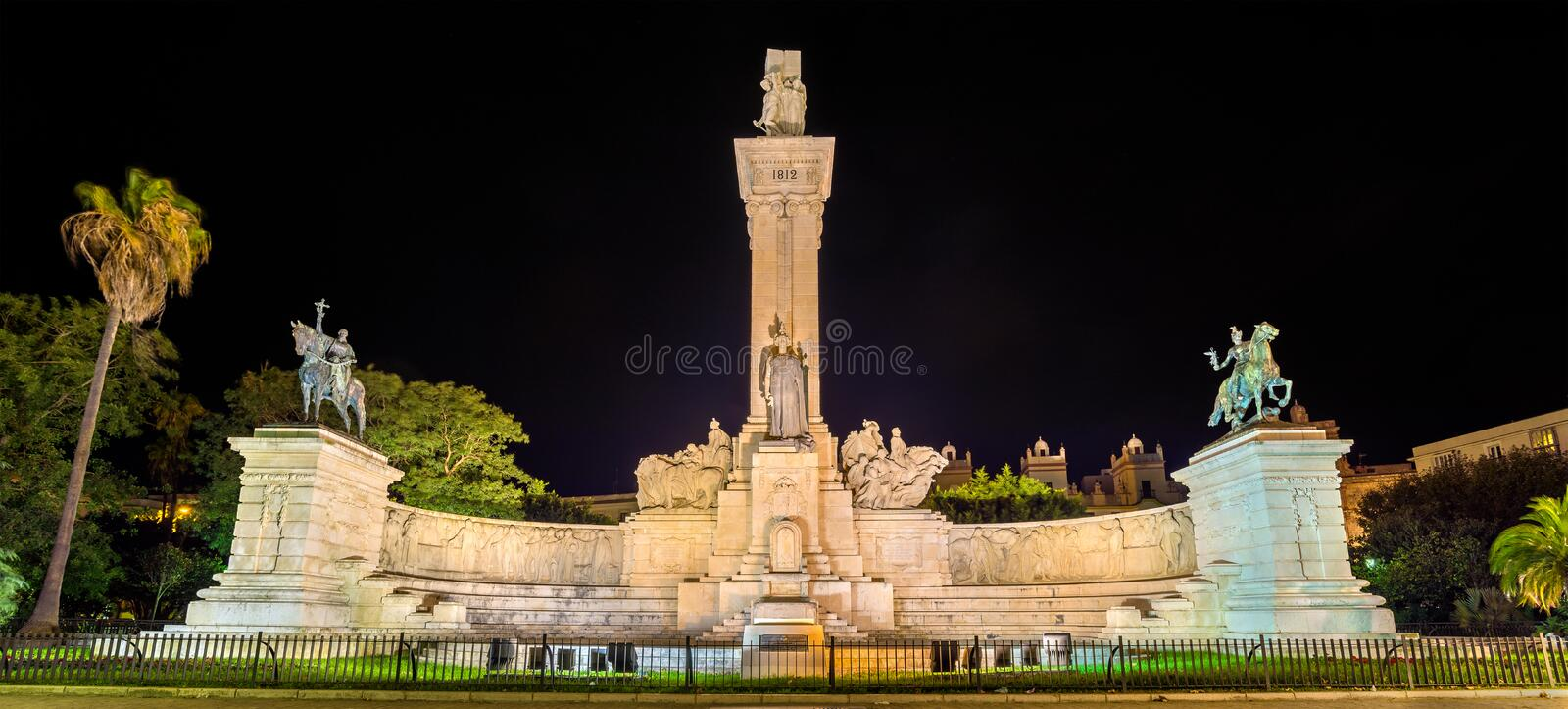 Monument of the 1812 Constitution in Cadiz, Spain royalty free stock images