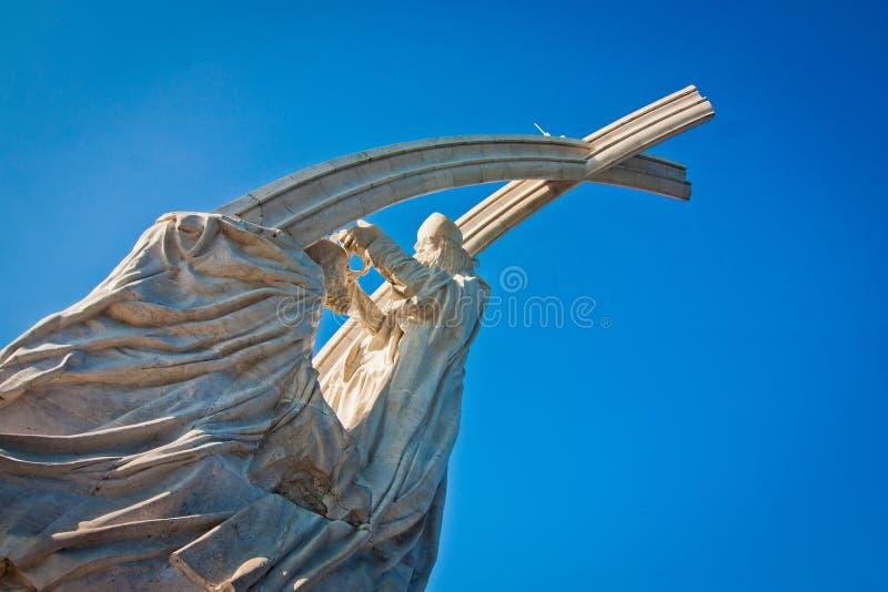 Monument The Coronation of Saint Stephen. Marble monument The Coronation of Saint Stephen, Esztergom, Hungary stock photos