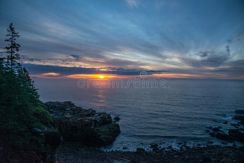 Monument cove sunrise royalty free stock images