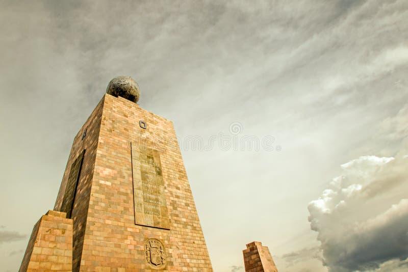 Monument d'équateur à Quito Equateur photo stock